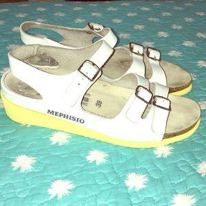 Mephisto wedge sandals yellow sole